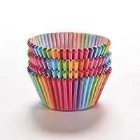 100Pcs/set Rainbow Color Cupcake Baking Paper Cases Cake Box