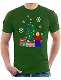 20ab256ed17 Lego Man Around The Christmas Tree Men s T-Shirt