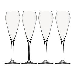 Spiegelau & Nachtmann, 4-teiliges Champagnerglas-Set, Kristallglas, 240 ml, Willsberger Anniversary, 1416175