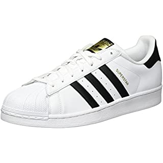 adidas Unisex-Erwachsene Superstar Low-Top, Weiß (Ftwr White/Core Black/Ftwr White), 43 1/3 EU
