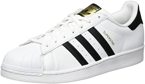 Adidas  superstar foundation, scarpe da ginnastica basse unisex - adulto, bianco (ftwr white/core black/ftwr white), 43 1/3 eu