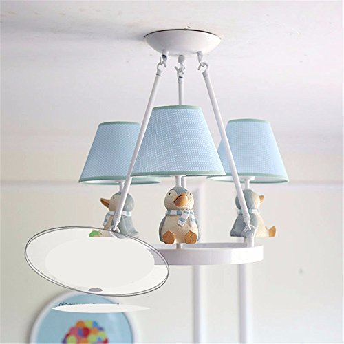 Oncemore Continental US-Stil kleine einfache und erfrischende Kronleuchter Jungen und Mädchen Kinderzimmer Schlafzimmer, Pinguin