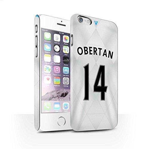 Offiziell Newcastle United FC Hülle / Matte Snap-On Case für Apple iPhone 6S / Pack 29pcs Muster / NUFC Trikot Away 15/16 Kollektion Obertan