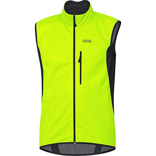 Gore Wear Winddichte Herren Fahrrad-Weste, C3 Gore Windstopper Vest, XL, Neon-Gelb/Schwarz, 100037 (Gore Windstopper)