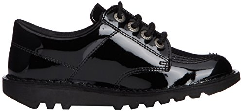 Kickers Lo Core Patl Jf, Derby Mixte Enfant Noir (Black)