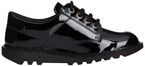 Kickers Lo Core Patl Jf, Derby Mixte Enfant Noir (Black)