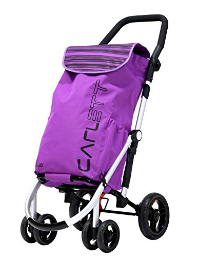 Carlett Lett460 Deluxe Shopper Einkaufstrolley mit Sicherheitsbremse und Thermofach