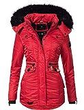 Navahoo Damen Winter-Jacke Winter-Mantel Steppmantel Schätzchen Rot Gr. M