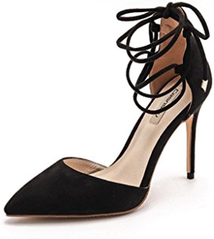Attrape-rêve Ceintures à Talons Hauts  Cheville s élégantes Chaussures Sexy en Cheville  Chaussures en Cuir (Couleur...B07488WDP7Parent 61b523