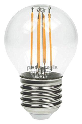 6x Vintage Style Edison Schraube LED Filament 4W Klar Golf Licht G45Kleine runde Globe 360Abstrahlwinkel Lampe E27ES 2700K warm weiß 40W Glühlampe Ersatz [6Stück Leuchtmittel] - Globus Mittlere Schraube
