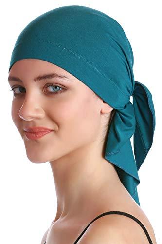 Deresina Headwear Unisex Baumwolle Bandana Fur Haarverlust (Teal)