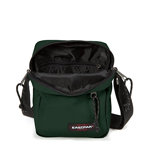 Eastpak The One Borsa a Tracolla, 2.5 Litri, Grigio (Black Denim) Verde (Optical Green)