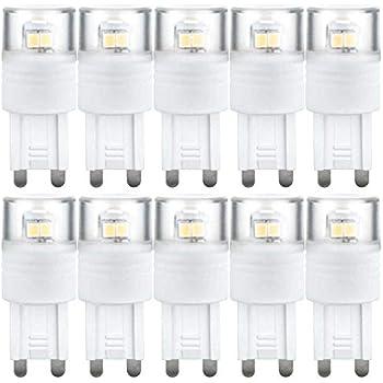 10 x Paulmann LED Leuchtmittel Stiftsockellampe 1,5W G9 230V warmweiß 2700K