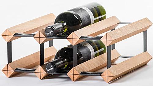RAXITM Classic Premium Weinregal aus Holz mit luxuriösem Design, Flaschenregal für 6 Wein Flaschen 32,5x13,5x30 cm