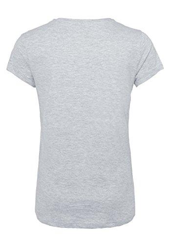 Rock Angel Damen T-Shirt mit MICKEY MOUSE Print   Leichtes Baumwoll Shirt mit Statement Aufdruck Light-Grey