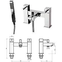 Generic NV _ 1001002201_ yc-uk2D set CH TH BA New doppia leva miscelatore per doccia cromato m SHO lavello rubinetto Ixer per vasca da bagno F mano testa set New Dou