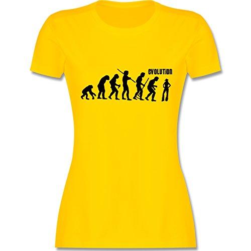 Evolution - Cowgirl Evolution - tailliertes Premium T-Shirt mit Rundhalsausschnitt für Damen Gelb