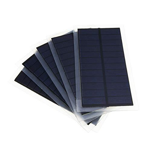 LaDicha 5Pcss/Pack 6V 2W 102 * 184Mm Mini-Polykristalline Solarpanel Für Batterie-Ladegerät