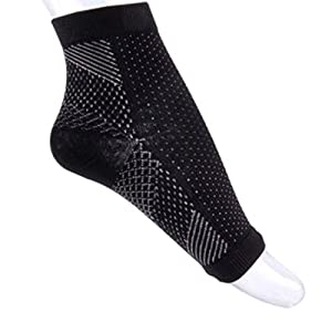 41s vzQ2sUL. SS300  - Luwu-Store 1 Pair Foot Ankle Compression Socks Anti Fatigue Varicose Feet Sleeve Outdoor-S/M