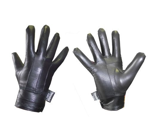 - 41s w85AKYL - Ladies Designer Seamed Button Fasten Thermal Fleece Lined Leather Driving Glove Black M/L  - 41s w85AKYL - Deal Bags