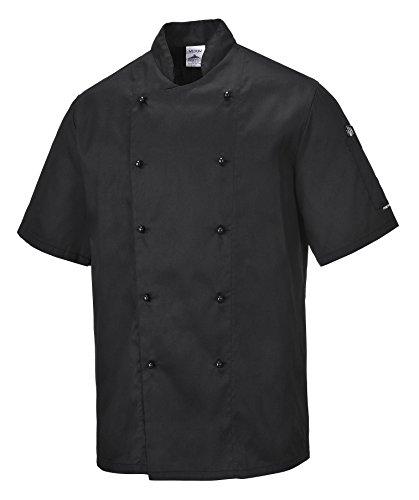 Veste Portwest C734Chemise Kent cuisinier, C734WHRS Noir