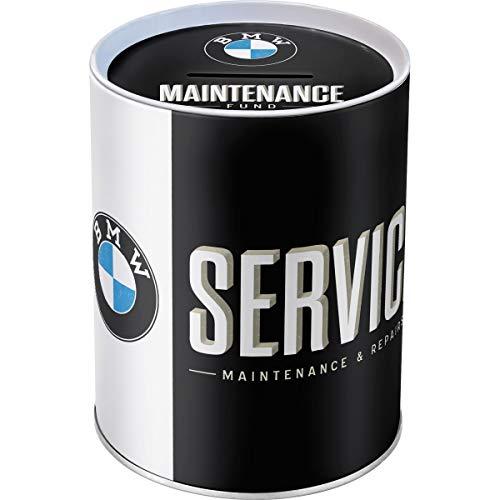 Nostalgic-Art 31011 BMW - Service | Retro Spardose | Spar-Büchse | Geld-Dose | abnehmbarer Deckel | Metall