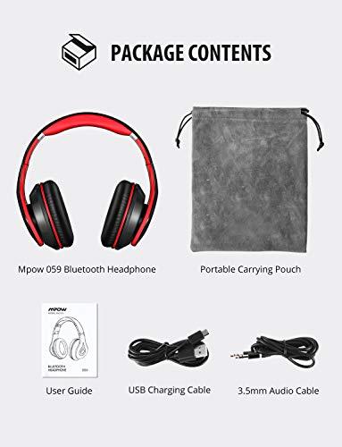 Mpow Bluetooth Kopfhörer over Ear, [Bis zu 20 Std] Hi-Fi Stereo mit Dual 40mm Treiber, CVC 6.0 Noise Canceling für Integriertem Mikrofon Freisprechen - 8