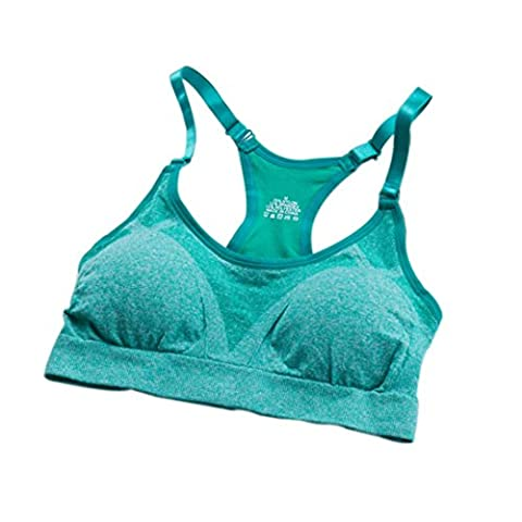 Ouneed® Femmes Sport Bra Gym Courir Yoga Fitness rembourrée Débardeurs stretch Workout (L, Vert)