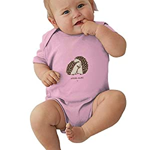 HOTNING Ropa para bebés, Cute Hedgehog Hugs Infant Romper Jumpsuit Kids' One-Piece Organic Cotton Short Sleeve Onesie… 2