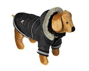 Doggy Things Dandy Parka- XXS, Black