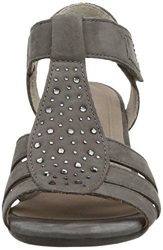 Gabor Shoes 25.871.16_Gabor_T-Spange Sandalen Damen T-Spange Sandalen Grau (Fumo)