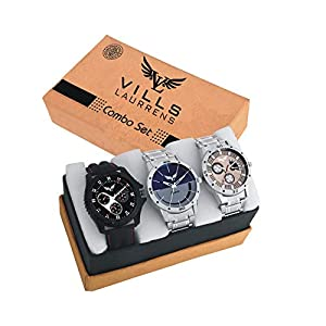 Vills Laurrens Analogue Multicolor Dial Combo Of 3 Men's & Boy's Watch – Vl-1111-1112-1113 Best Online Shopping Store