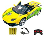 Popsugar Lamborghini 1:18 Three Door Opening Car with Rechargeable Battery and Charger RC