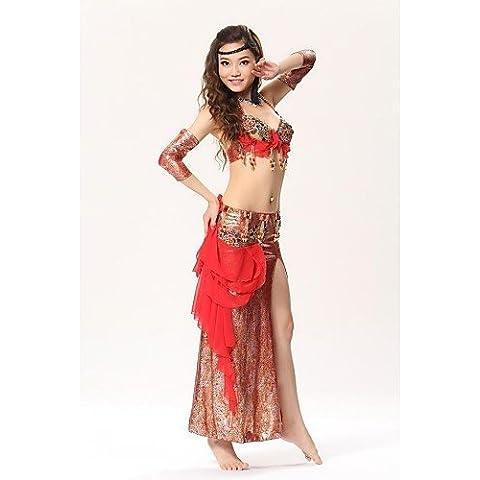 Belly Dance ZY Performance Embroider fasi elegante abiti, Set da 3, Top, gonna e Handwears)