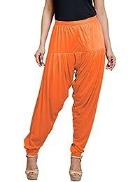 Goodtry Women's patiyala Free Size-Orange