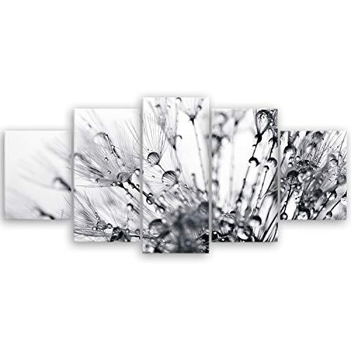 ge Bildet® hochwertiges Leinwandbild XXL - another world - schwarz weiß - 150 x 70 cm mehrteilig (5 teilig) 2208 H