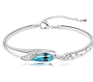 Bracelet Femme - Cristal - Bleu Lagon
