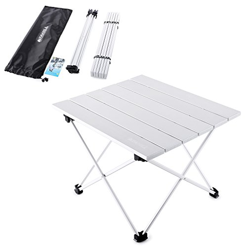 f1fd473bc22 YAHILL Aluminum Folding Collapsible Camping Table Roll up 3 Size with  Carrying Bag for Indoor and