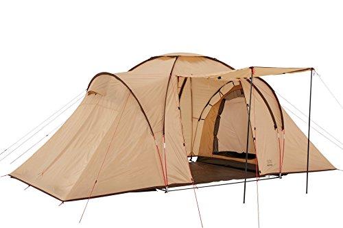 Grand Canyon Atlanta 4 - Zelt, für 4 Personen, großer Wohnbereich und 2 Schlafkabinen, 2 Eingänge, Ideal für Familien und Gruppen, für Camping, Festival, beige, 602014