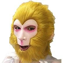 GXDHOME Máscaras de látex para la Cabeza, Halloween Horro Monkey King Goku Ghost Zombie Disfraz