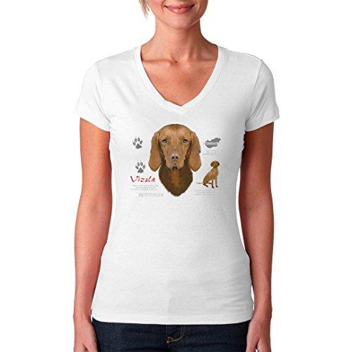 Im-Shirt - Hunde Motiv: Kurzhaarvizsla cooles Fun Girlie Shirt - verschiedene Farben Weiß
