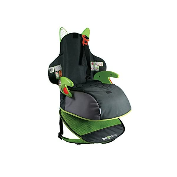 Trunki BoostApak - Travel Backpack & Child Car Booster Seat for Group 2-3 (Green)  QUICKLY TRANSFORMS – Kid's bag to portable booster cushion in seconds (featuring internal hard shell and fold out seatbelt guides) AVOID HIRE CHARGES - On fly drive holidays! Can also be used as dining, cinema or stadium booster to see the action HAND LUGGAGE - 8-litre capacity for packing toys/games/stationary keeping children entertained on the go 8