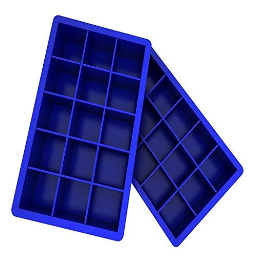 Cube Ice Box Silikonform Süßigkeiten Kuchen Schokoladenform Schimmel Blue ()