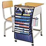 Gzqnan Multifunction Adjustable Table Desk Side Hanging Books Newspaper Magazine Stationery Tidy Organizer Storage Bag