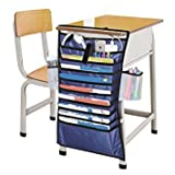 #7: New Arraival Multifunction Adjustable Table Desk Side Hanging Books Newspaper Magazine Stationery Tidy Organizer Storage Bag