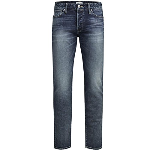 Jack & Jones Jeans Herren Mike Glenn TIM Hose Blau Black Schwarz Elasthan Knienaht Destroyed Neu Mike 001