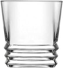 Lyra Glassware Elegan Dof Drink Glass Set, 315ml, Set of 6, Transparent
