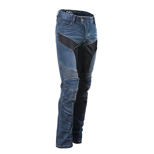 Dolity jeans pantaloni moto uomo ginocchio protettivo gambe smontabile accessorio di protezione - m