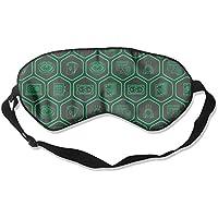 Eye Mask Eyeshade Hexagon Lines Sleeping Mask Blindfold Eyepatch Adjustable Head Strap preisvergleich bei billige-tabletten.eu