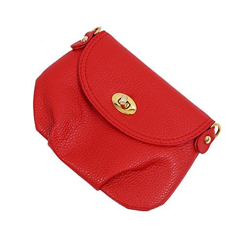 Sac de messager - TOOGOO(R)Femmes Sac de messager Totes Sac en bandouliere - Rouge Grand